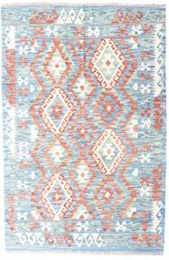 Kilim Afghan Old Style Rug 120X182 Authentic  Oriental Handwoven White/Creme/Light Blue (Wool, Afghanistan)
