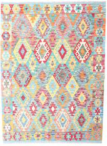 Kilim Afghan Old Style Rug 131X177 Authentic  Oriental Handwoven Beige/Light Pink (Wool, Afghanistan)