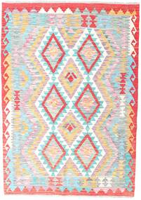 Kilim Afghan Old Style Rug 126X179 Authentic  Oriental Handwoven Light Pink/Light Grey (Wool, Afghanistan)