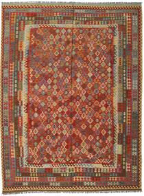 Kilim Afghan Old Style Rug 301X396 Authentic  Oriental Handwoven Dark Brown/Orange Large (Wool, Afghanistan)