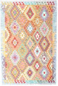 Kilim Afghan Old Style Rug 126X188 Authentic  Oriental Handwoven White/Creme/Dark Beige (Wool, Afghanistan)