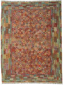 Kilim Afghan Old Style Rug 302X400 Authentic  Oriental Handwoven Olive Green/Dark Grey Large (Wool, Afghanistan)