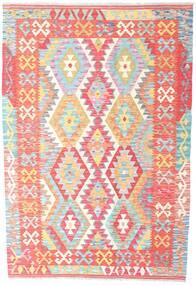 Kelim Afghan Old Style Matta 125X184 Äkta Orientalisk Handvävd Ljusrosa/Beige (Ull, Afghanistan)