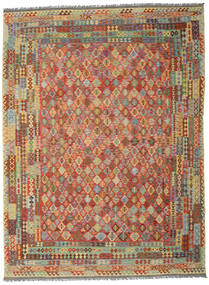 Kilim Afghan Old Style Rug 300X400 Authentic  Oriental Handwoven Crimson Red/Dark Red Large (Wool, Afghanistan)