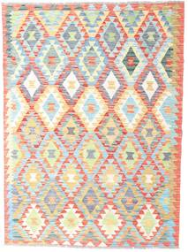 Kilim Afghan Old Style Rug 125X173 Authentic  Oriental Handwoven Beige/White/Creme (Wool, Afghanistan)