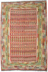 Kilim Afgan Old Style Dywan 305X453 Orientalny Tkany Ręcznie Ciemnoczerwony/Ciemnobeżowy Duży (Wełna, Afganistan)