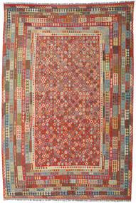 Kilim Afgan Old Style Dywan 313X466 Orientalny Tkany Ręcznie Ciemnoczerwony/Brązowy Duży (Wełna, Afganistan)
