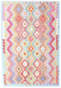 Kilim Afgán Old Style Szőnyeg 123X181 Keleti Kézi Szövésű Világos Rózsaszín/Bézs (Gyapjú, Afganisztán)