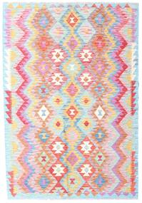 Kelim Afghan Old Style Teppich 123X181 Echter Orientalischer Handgewebter Hellrosa/Beige (Wolle, Afghanistan)