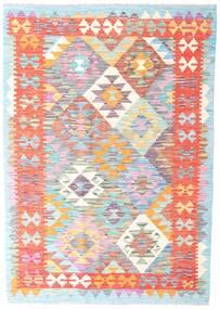 Kelim Afghan Old Style Matta 124X177 Äkta Orientalisk Handvävd Ljusrosa/Beige (Ull, Afghanistan)