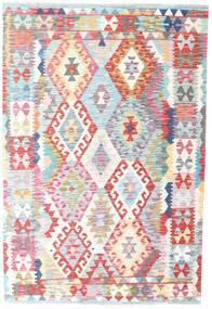 Kilim Afghan Old Style Rug 126X186 Authentic  Oriental Handwoven Beige/Light Pink (Wool, Afghanistan)