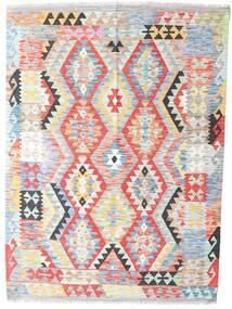 キリム アフガン オールド スタイル 絨毯 124X170 オリエンタル 手織り 薄い灰色/ライトピンク (ウール, アフガニスタン)