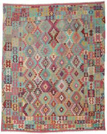 Kelim Afghan Old Style Matta 242X298 Äkta Orientalisk Handvävd Brun/Ljusgrå (Ull, Afghanistan)