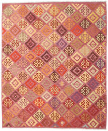 Kilim Afghan Old Style Rug 248X299 Authentic  Oriental Handwoven Light Pink/Dark Red (Wool, Afghanistan)
