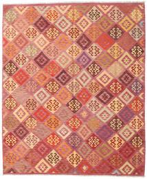Kilim Afghan Old Style Rug 248X299 Authentic  Oriental Handwoven Light Pink/Dark Red (Wool, Afghanistan)
