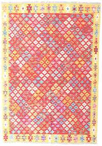 Kilim Afghan Old Style Rug 127X183 Authentic  Oriental Handwoven Light Pink/Beige (Wool, Afghanistan)