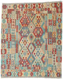 Kilim Afghan Old Style Rug 202X248 Authentic  Oriental Handwoven Dark Beige/Light Grey (Wool, Afghanistan)