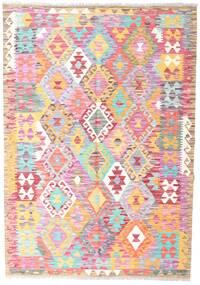 Kilim Afghan Old Style Rug 126X180 Authentic  Oriental Handwoven Light Pink/Beige (Wool, Afghanistan)