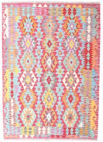Kelim Afghan Old Style Matto 127X178 Itämainen Käsinkudottu Vaaleanpunainen/Vaaleansininen (Villa, Afganistan)