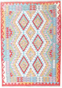 Kilim Afghan Old Style Rug 125X177 Authentic  Oriental Handwoven Light Purple/White/Creme (Wool, Afghanistan)