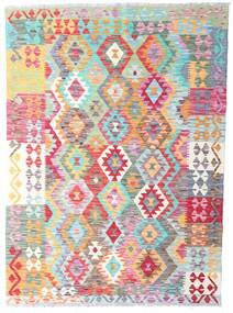 Kilim Afghan Old Style Rug 128X177 Authentic  Oriental Handwoven White/Creme/Beige (Wool, Afghanistan)