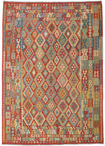 Kilim Afghan Old Style Rug 252X355 Authentic  Oriental Handwoven Large (Wool, Afghanistan)