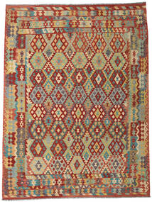 Kilim Afghan Old Style Rug 258X344 Authentic  Oriental Handwoven Large (Wool, Afghanistan)