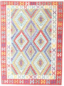 Kilim Afghan Old Style Rug 155X209 Authentic  Oriental Handwoven Beige/Light Pink (Wool, Afghanistan)