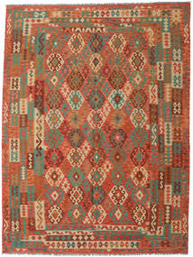Kilim Afghan Old Style Rug 262X346 Authentic  Oriental Handwoven Crimson Red/Orange Large (Wool, Afghanistan)