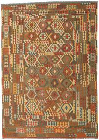 Kilim Afgán Old Style Szőnyeg 248X347 Keleti Kézi Szövésű Barna/Világosbarna (Gyapjú, Afganisztán)