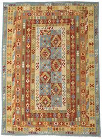Kilim Afghan Old Style Rug 255X346 Authentic  Oriental Handwoven Dark Beige/Light Brown Large (Wool, Afghanistan)
