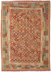 Kelim Afghan Old Style Matta 250X358 Äkta Orientalisk Handvävd Brun/Orange Stor (Ull, Afghanistan)