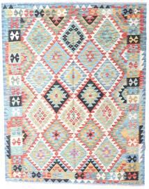 Kelim Afghan Old Style Matta 153X196 Äkta Orientalisk Handvävd Mörkbeige/Beige/Vit/Cremefärgad (Ull, Afghanistan)