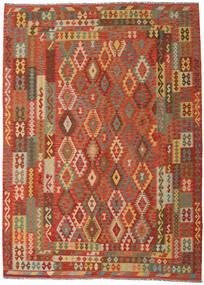 Kilim Afgán Old Style Szőnyeg 249X344 Keleti Kézi Szövésű Narancssárga/Sötét Bézs (Gyapjú, Afganisztán)