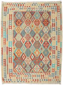 Kelim Afghan Old Style Teppich  260X342 Echter Orientalischer Handgewebter Dunkel Beige/Beige Großer (Wolle, Afghanistan)