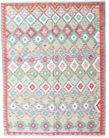 Kilim Afghan Old Style Rug 153X195 Authentic  Oriental Handwoven White/Creme/Light Blue (Wool, Afghanistan)