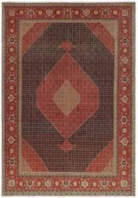 Tabriz 50 Raj Matto 327X460 Itämainen Käsinkudottu Tummanruskea/Ruskea Isot (Villa/Silkki, Persia/Iran)