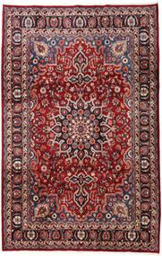 マシュハド 絨毯 197X306 オリエンタル 手織り 濃い茶色/深紅色の (ウール, ペルシャ/イラン)