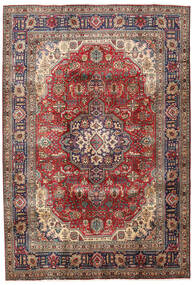 Tabriz Rug 200X295 Authentic  Oriental Handknotted Dark Brown/Dark Red (Wool, Persia/Iran)