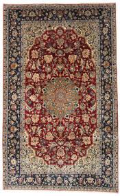 ナジャファバード 絨毯 204X333 オリエンタル 手織り 濃い茶色/薄茶色 (ウール, ペルシャ/イラン)