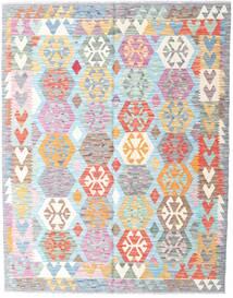 Kilim Afghan Old Style Rug 157X199 Authentic  Oriental Handwoven Beige/Light Blue (Wool, Afghanistan)