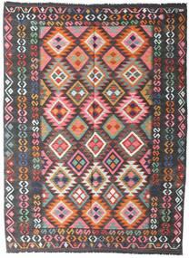 キリム アフガン オールド スタイル 絨毯 152X207 オリエンタル 手織り 黒 (ウール, アフガニスタン)