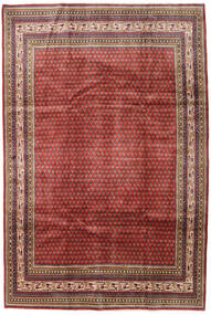Sarough Mir Matta 209X314 Äkta Orientalisk Handknuten Mörkröd/Mörkbrun (Ull, Persien/Iran)