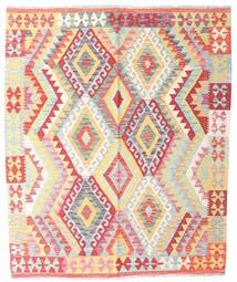 Kilim Afghan Old Style Rug 159X191 Authentic  Oriental Handwoven Light Pink/Light Grey (Wool, Afghanistan)
