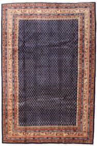 Sarough Mir Matta 215X320 Äkta Orientalisk Handknuten Mörklila/Ljusbrun (Ull, Persien/Iran)