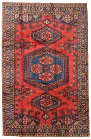 Wiss Szőnyeg 208X319 Keleti Csomózású Sötétpiros/Sötétlila (Gyapjú, Perzsia/Irán)