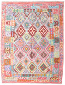 Kilim Afghan Old Style Rug 156X204 Authentic  Oriental Handwoven Light Pink/Light Grey (Wool, Afghanistan)