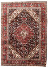 Tabriz Tappeto 210X288 Orientale Fatto A Mano Rosso Scuro/Marrone Scuro (Lana, Persia/Iran)
