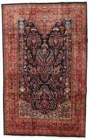 Mashad Rug 192X301 Authentic  Oriental Handknotted Dark Red (Wool, Persia/Iran)