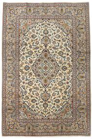 Keshan Tappeto 200X300 Orientale Fatto A Mano Beige/Nero (Lana, Persia/Iran)
